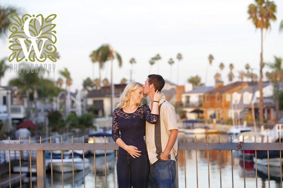 engagement portrait sunset naples ca