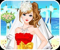 Game lễ cưới trên bãi biển, chơi game thoi trang