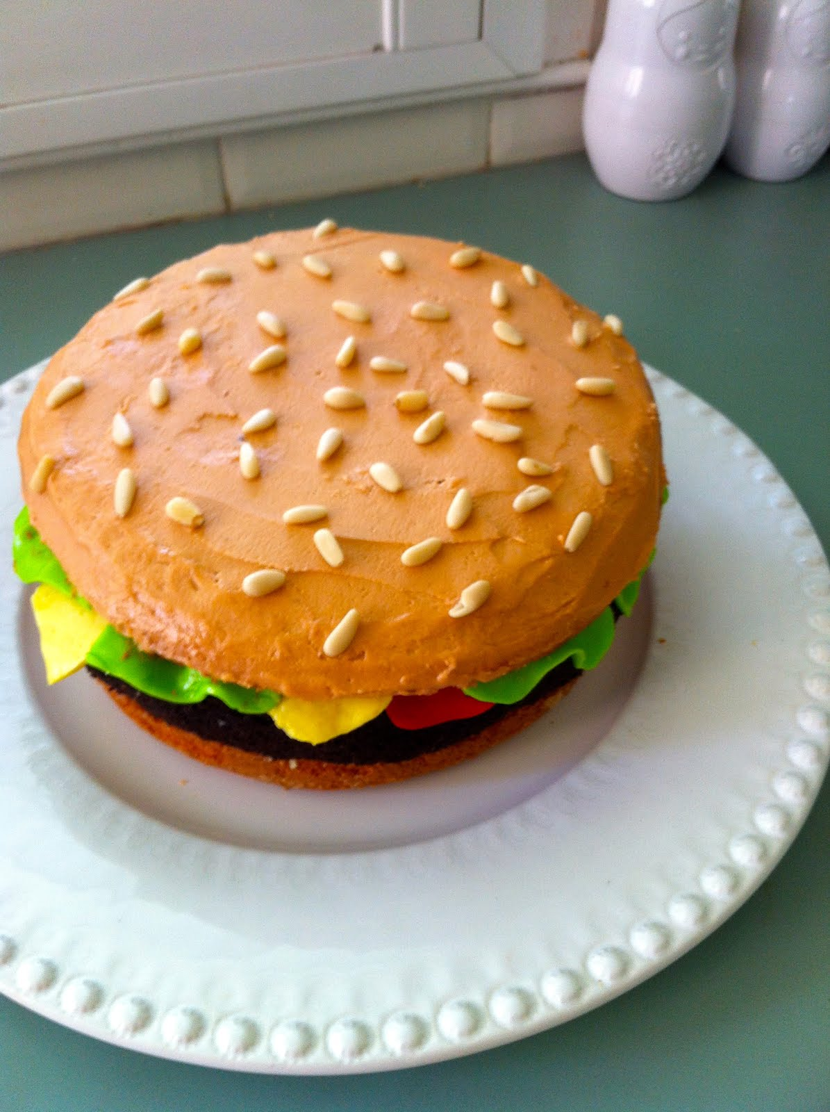 Giggleberry Creations!: Burger Birthday Cake!
