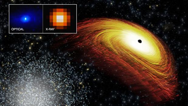 Detectan agujero negro fuera de control