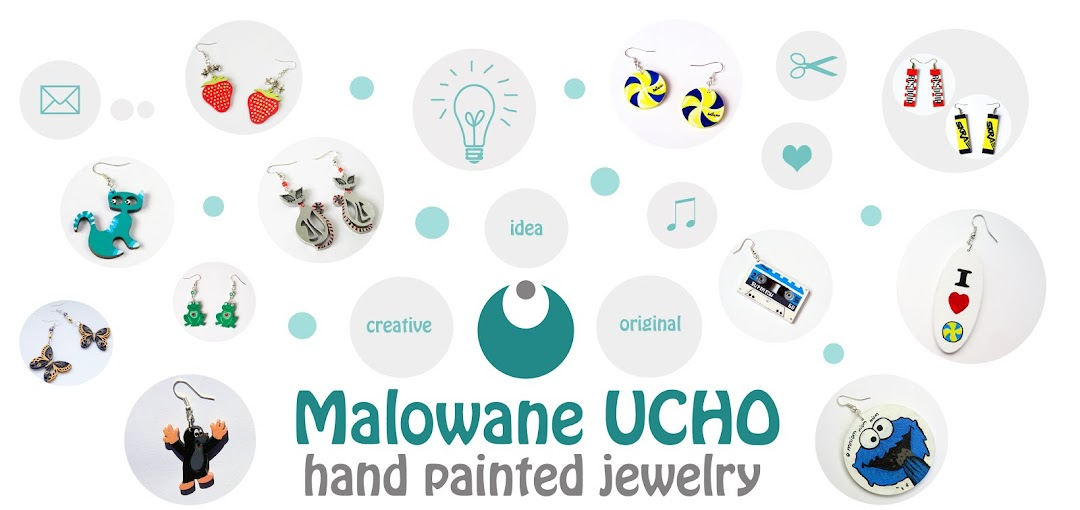 Malowane UCHO - hand painted jewelry