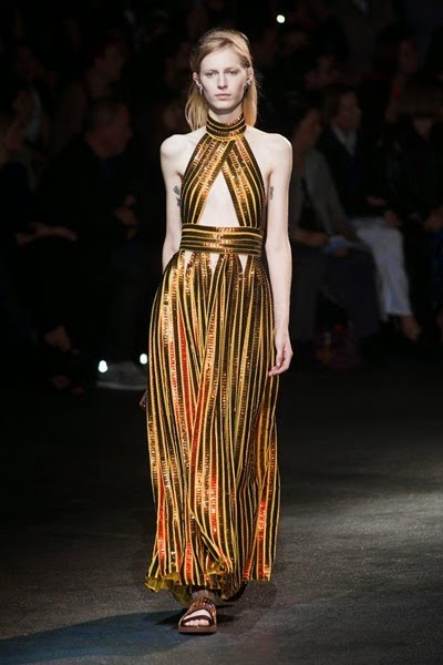 Givenchy 2014 SS Metallic Luxe Golden Sequins Hot Dress