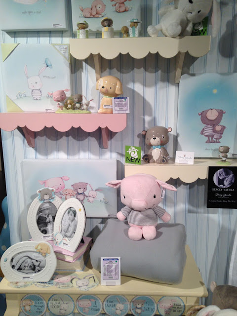 Stacey Yacula's Baby Collection for Enesco, plush, wall art, frames, figurines,banks,  pig, pup, bunny, bear