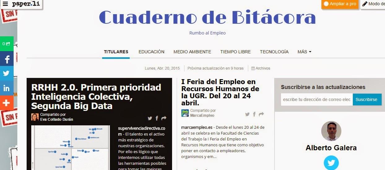 """Periódico Digital """"CUADERNO DE BITÁCORA"""""""