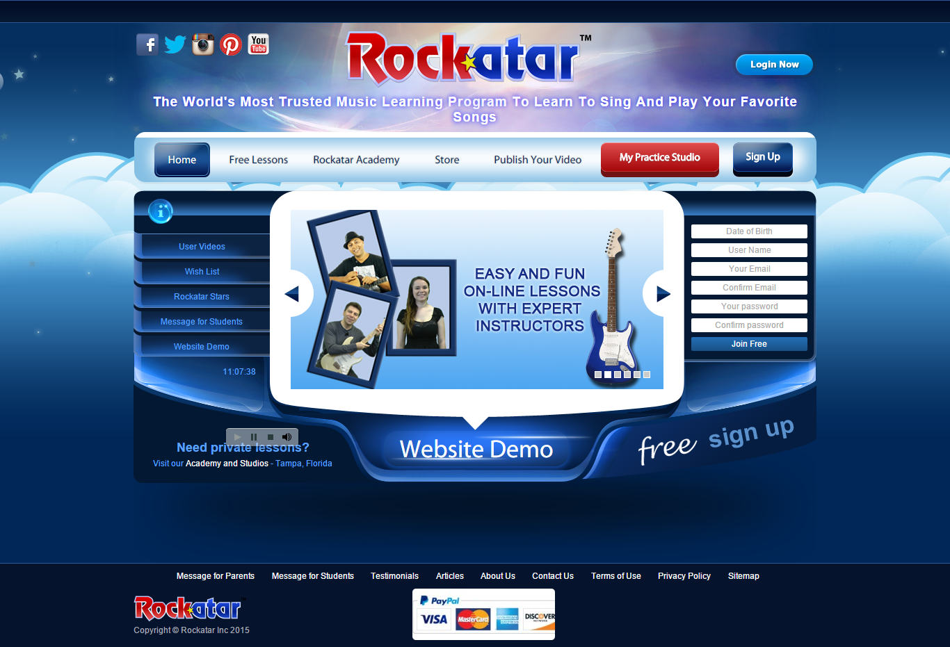 rockatar is a music learning platform for students who love to learn music it is also the most entertaining place for kids where they can learn how to play