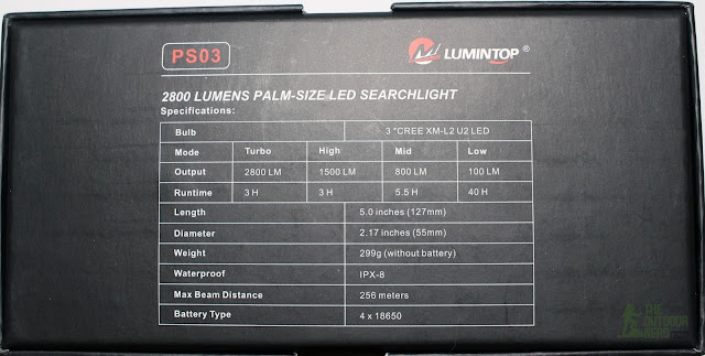 Lumintop PS03 4x18650 Flashlight - In Box 2