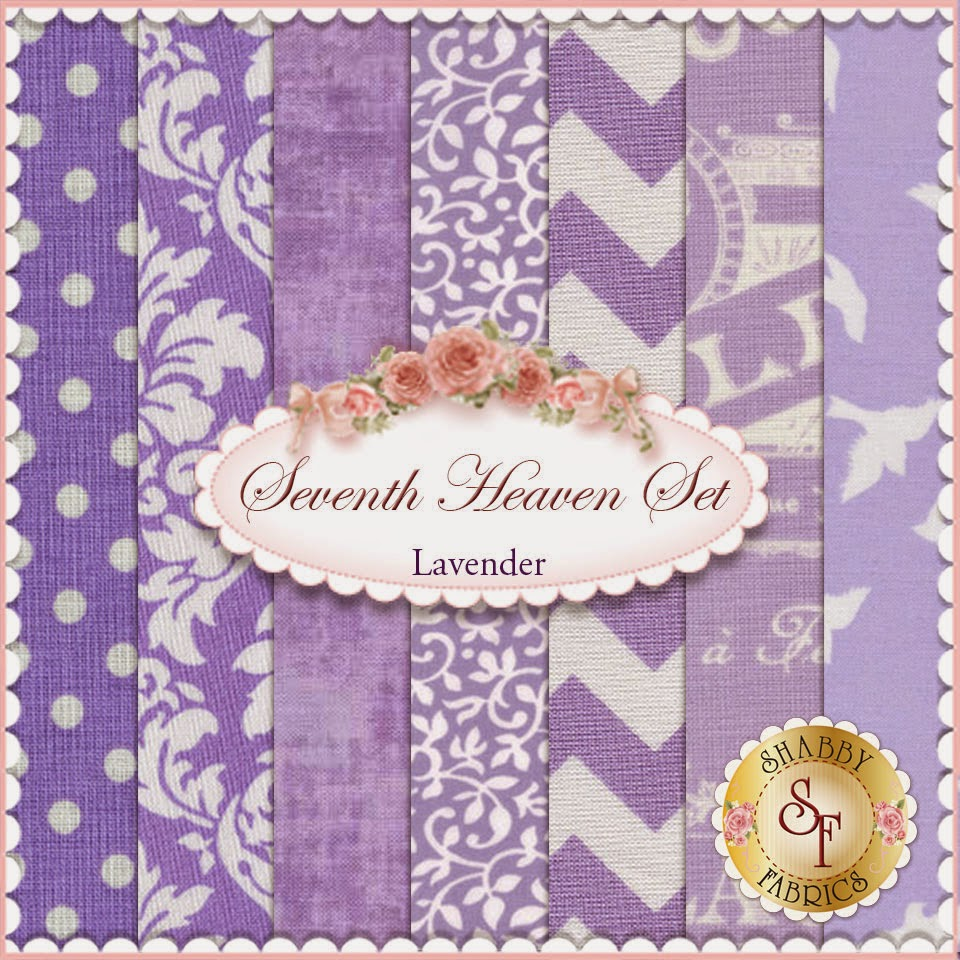 Seventh Heaven Lavender FQ Set | Shabby Fabrics