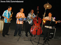 The beach band performing