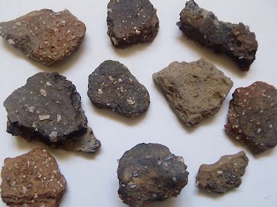 Sherds of Bronze Age flint tempered wares from the Chelmsford site