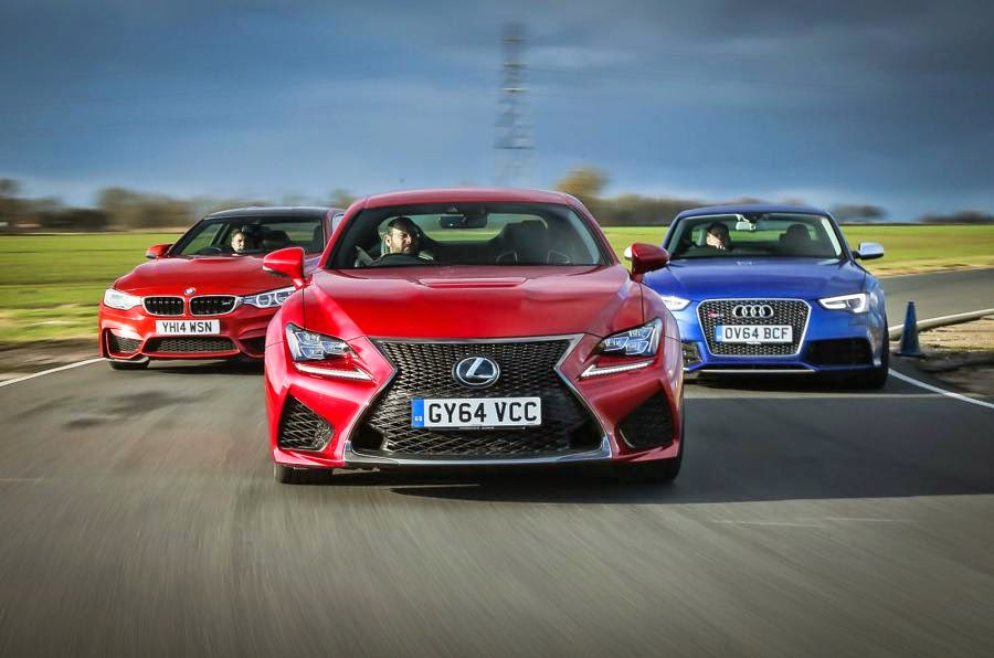 SUPER CARS: BMW M4 vs AUDI RS5 vs LEXUS RC F