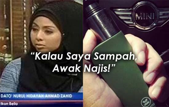 Respon Mengejutkan Dato Nurul Hidayah Bila Dikritik Hisap Vape