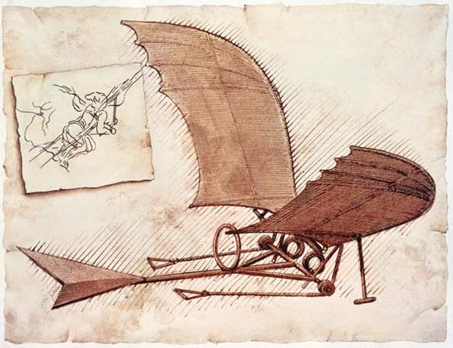 Máquina de Volar - Leonardo da Vinci