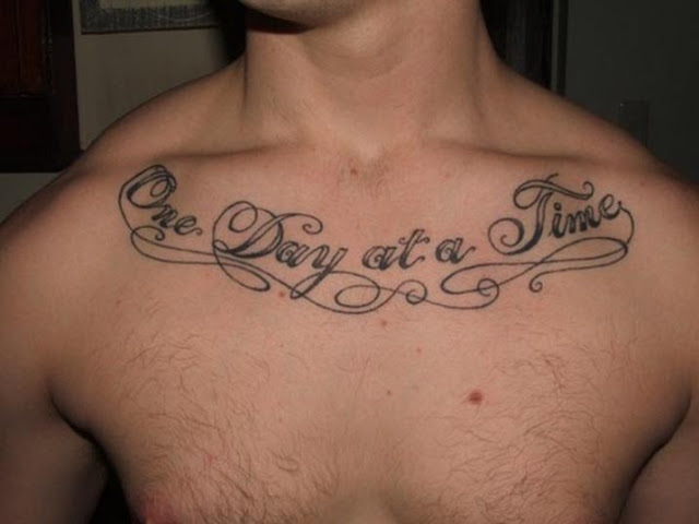 Girl Word Tattoos on Chest Tattoos For Men on Chest Words