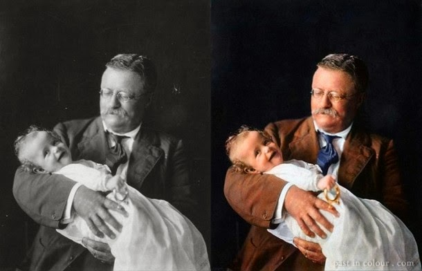 28 Realistically Colorized Historical Photos Make the Past Seem Incredibly Alive - Theodore Roosevelt