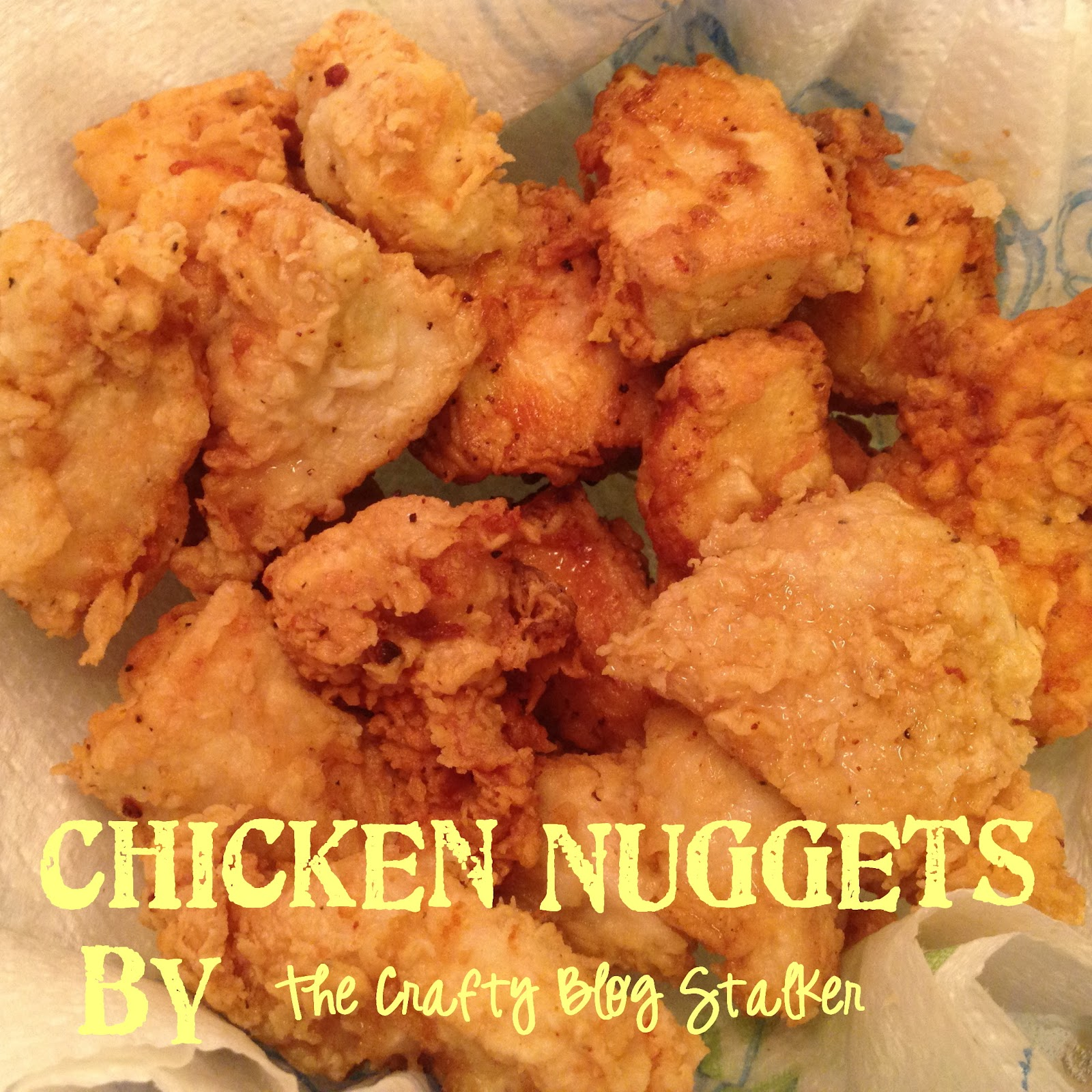 ... showed the yummy, creamy ranch with my homemade Chicken Nuggets