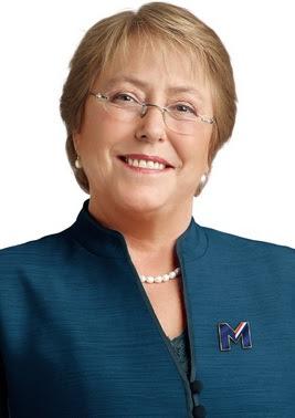 Michelle Bachelet siempre risueña