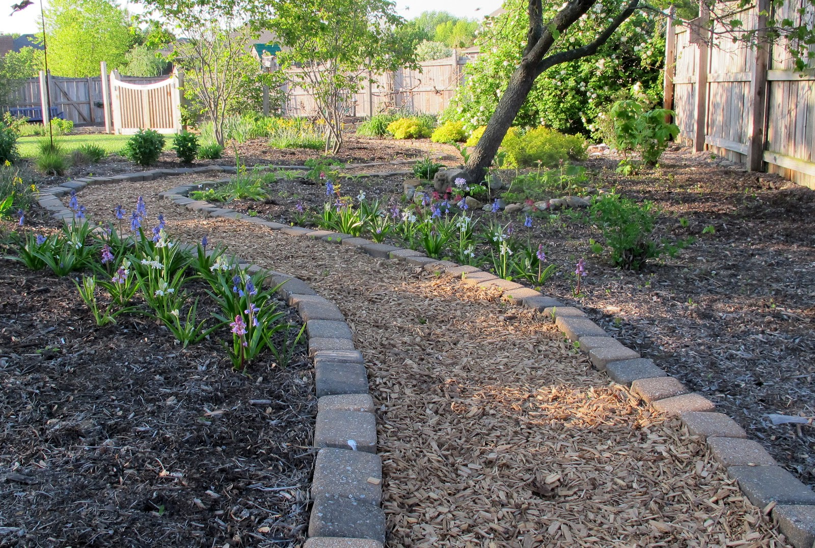 Mulch Path Backyard : Mulch Garden Path Ideas By the vegetable garden