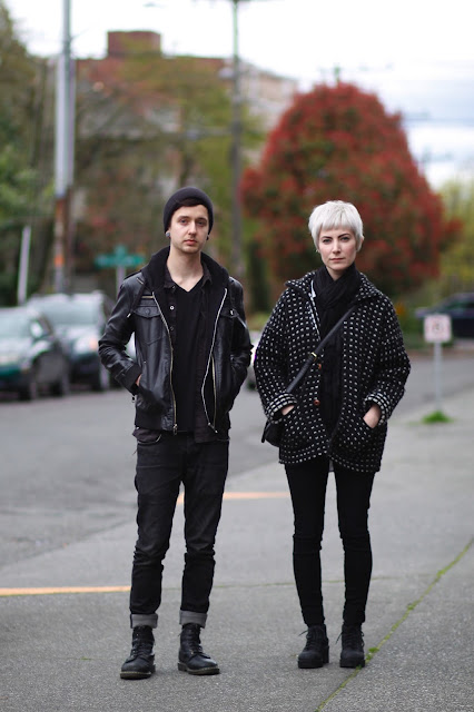 Joshua Pitney Anna Kovacebic platinum pixie cut seattle street style fashion it's my darlin'