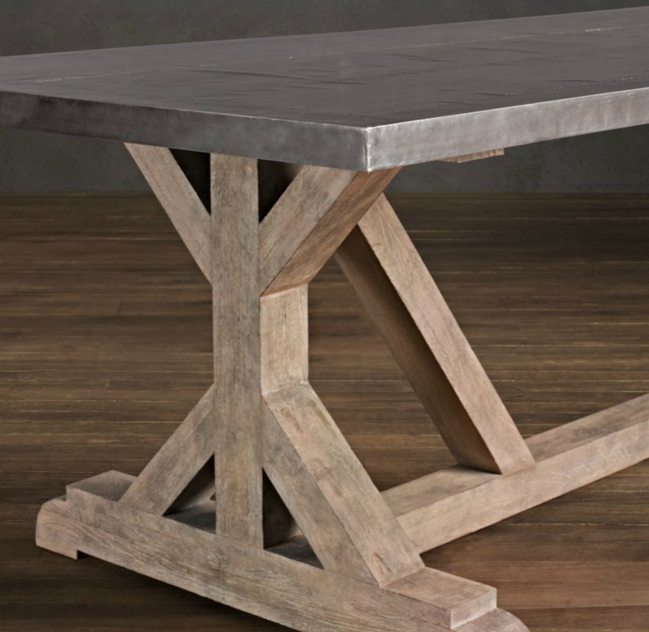 Diy rustic x base console table the chronicles of home a good long while ago i saw this restoration hardware dining table and was really drawn to the silouette with the x inspired sides geotapseo Image collections
