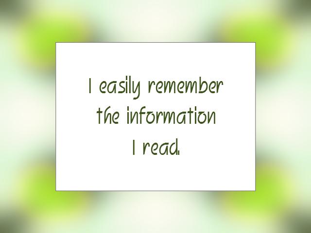 MEMORY affirmation