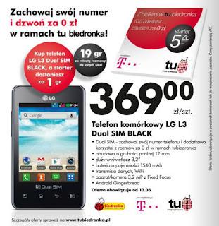 LG L3 Dual SIM z Biedronki ulotka