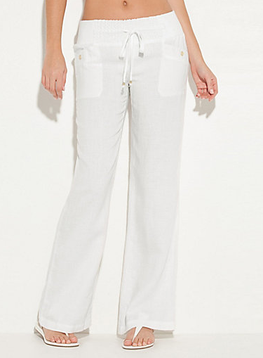 My Superficial Endeavors: Cute Linen Pants & Cutout Top from G by ...