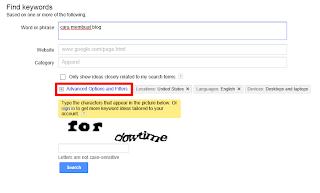 Cara Mencari Kata Kunci Dengan Google Adword