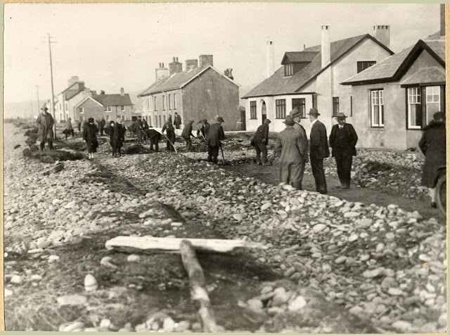 Borth, N. of Aberystwyth. Effects of storm of Oct. 28th, 1927.