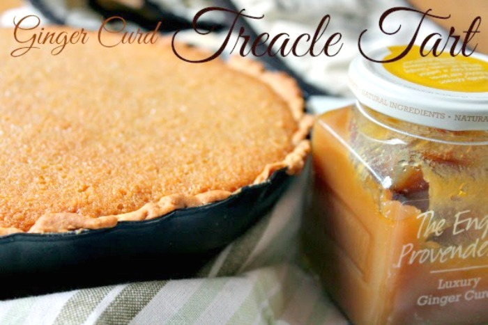 Ginger Curd Treacle Tart