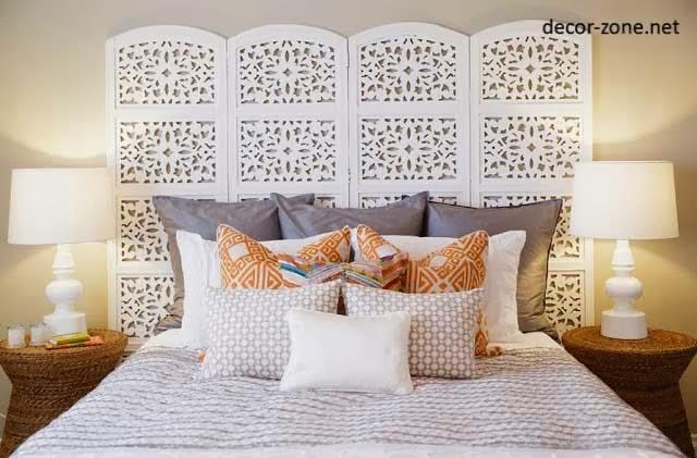 bed headboard ideas, screen bed headboard designs