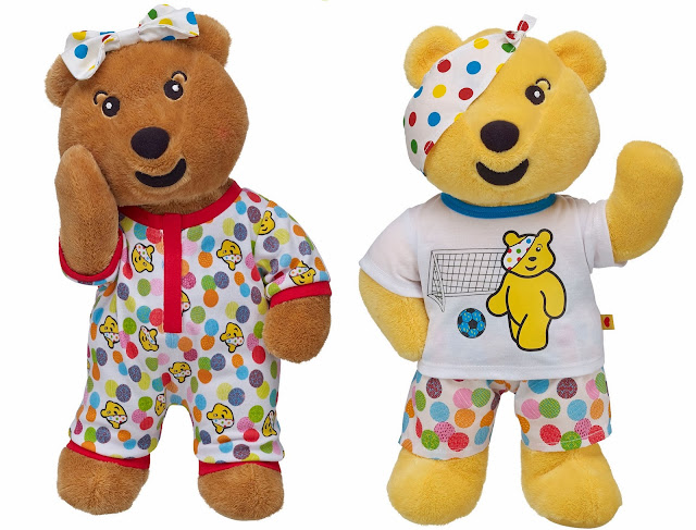 Children in Need, cuddly Pudsey and Blush, make your own Pudsey
