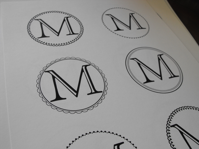 Susie harris free template labels for Free monogram template