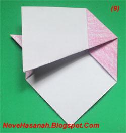 melipat origami anak anjing