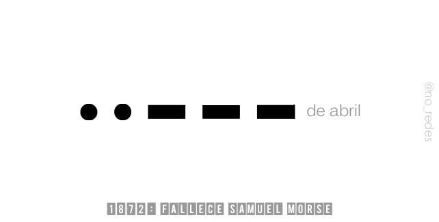 1872: Fallece Samuel Morse, inventor estadounidense.