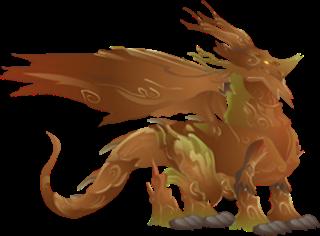 imagen del dragon bosque rojo adulto