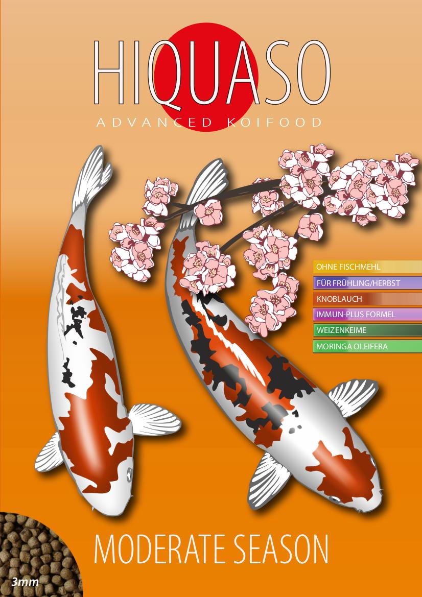 Hiquaso Koifutter - Moderate Season - Frühling Herbst - Wheat Germ