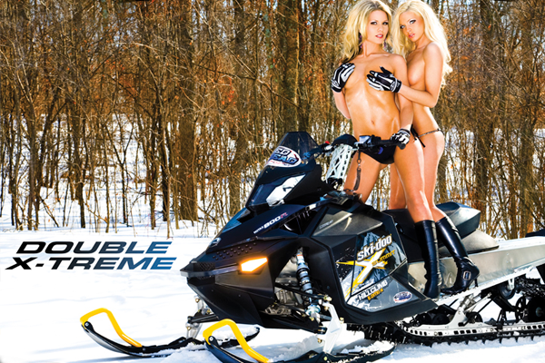 About still Naked chics on snowmobiles from this