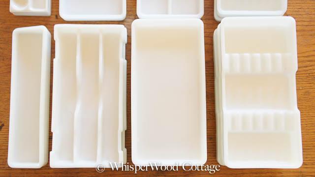 Whisperwood Cottage Vintage Milk Glass Dental Trays As
