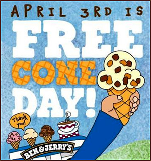 Ben and Jerry's Free Cone Day Flyer