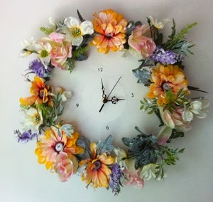 Floral Shabby Chic Wall Clock by Clocky Wocky