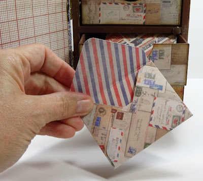 Making Envelopes With Inner Painted Paper