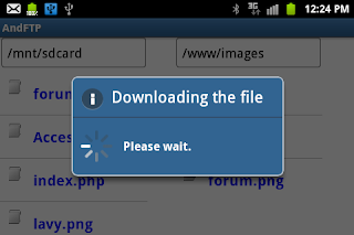 Uploader for Android-download file from server