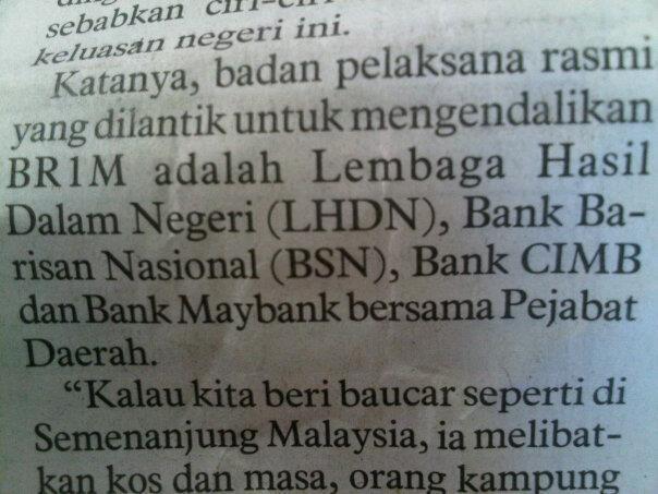 bank barisan nasional BN