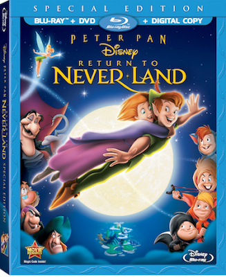 Peter Pan Return to Never Land on Blue-Ray Combo Pack