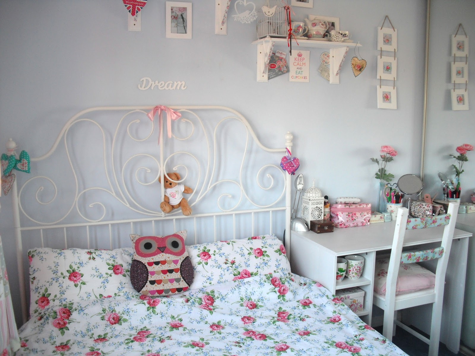 New furniture and my shabby chic bedroom tour for Shabby chic ikea