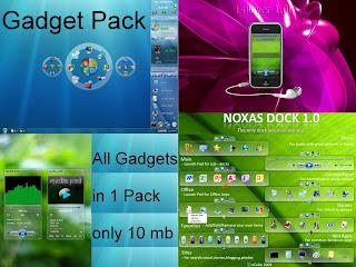 Windows 7 & Vista Gadgets Pack + Highly Compressed 25MB