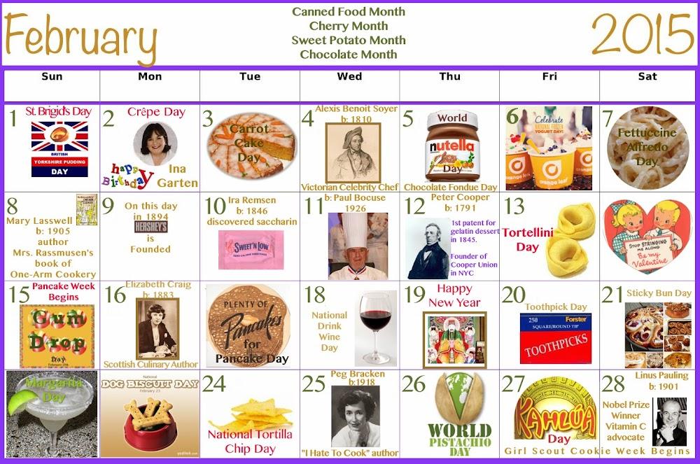 February Food Celebrations Calendar