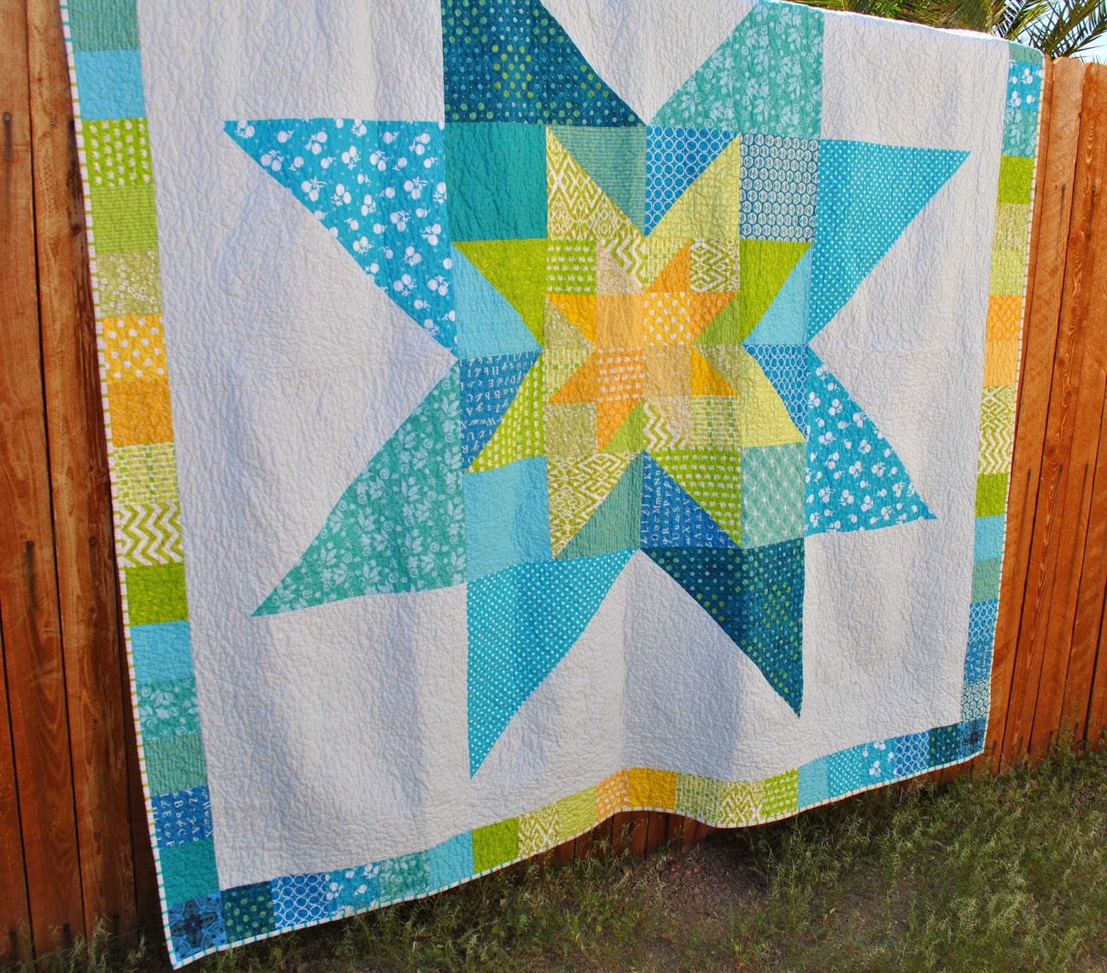 star in star wedding quilt