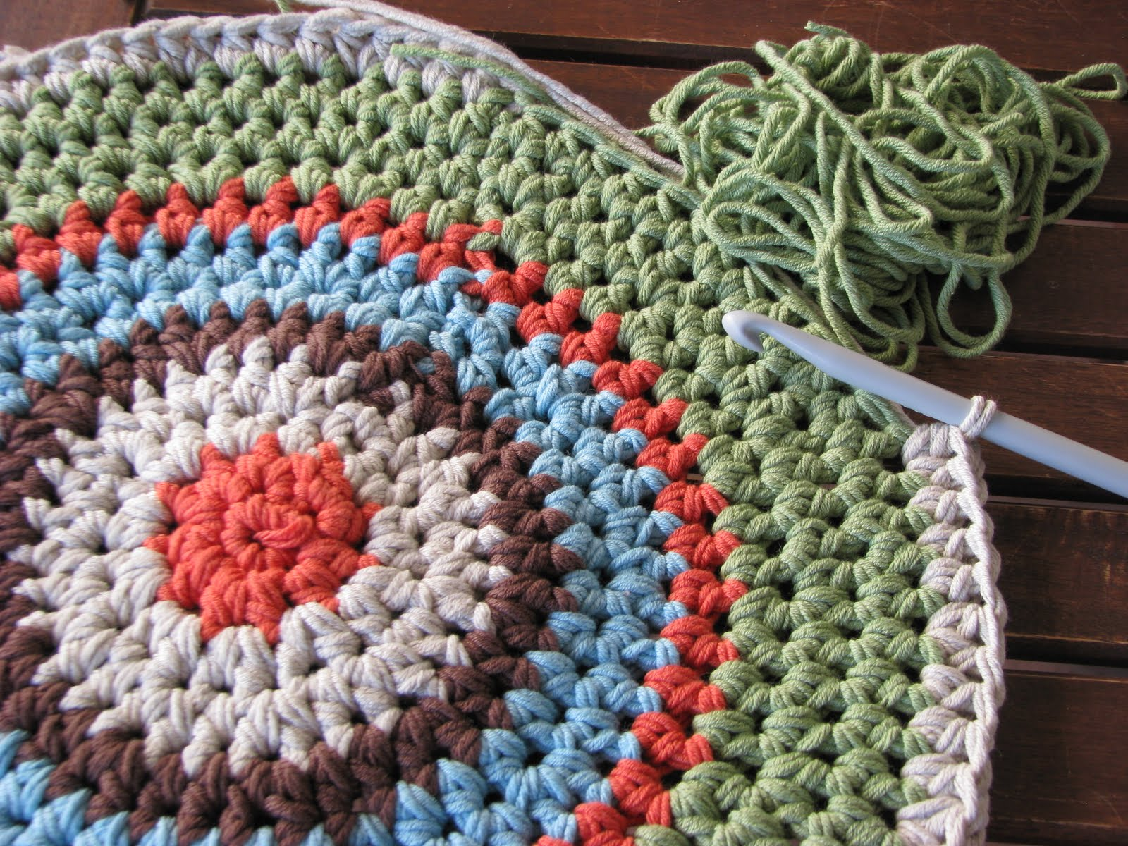 Crochet Patterns Using Cotton Yarn : Lady Crochet: Crochet Round Rug