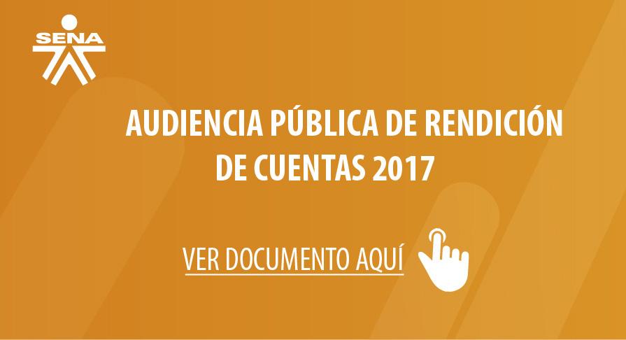 Audiencia Pública de Rendición de Cuentas 2017